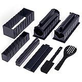Oak & Steel - Kit para Hacer Sushi - 11 Piezas Set de Sushi/Kit de Utensilios con Formas Unicas y Divertidas/Herramientas e Instrucciones Incluidas