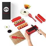 AYA Kit para Hacer Sushi - Equipo para Hacer Sushi Edición Cuchillo de Sushi y Tutoriales en Video Online - Set de Sushi de 11 Piezas - Fácil y Divertido - Rollitos de Maki.