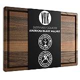 Virginia Boys Kitchens Tabla de Cortar de Nogal con Mango - Grande 41 x 25 Corte de Madera Dura Estadounidense y Bloque de Encimera Tallado