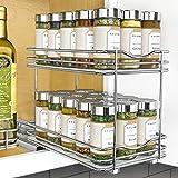 Lynk Organizador profesional de doble especia para gabinete superior, 15,6 cm, cromado