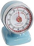 Kikkerland - Temporizador de cocina, diseño vintage, color azul