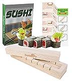 Kit de preparación de sushi, fácil para principiantes y más amantes del sushi con experiencia, instrucciones y libro electrónico incluido