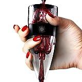 Aireador de vino vinluxe Pro, difusor, Pourer, decantador, color negro con bolsa de regalo