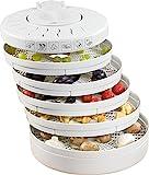 Clatronic DR 2751 - Deshidratador de alimentos, 5 bandejas, 250 W, color blanco