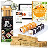 Sushi Making Kit by iSottcom - Sushi Kit for Chefs and Beginners - Sushi Maker Your Best Professional Quick Sushi Making Set - Japanese Sushi and Rolls at Home with Easy Sushi Press - Makimaker Grand