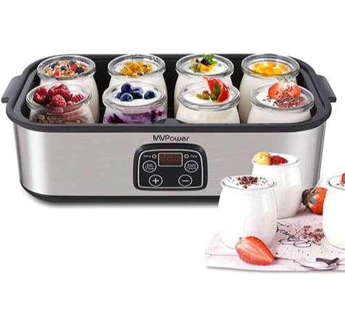 MVPower Yogurtera con Tarros y Temporizador