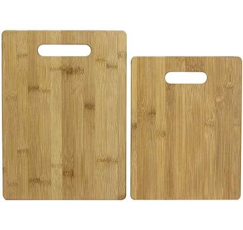 Totally Bamboo - Juego de 2 unidades de Tablas de Cortar de bambú