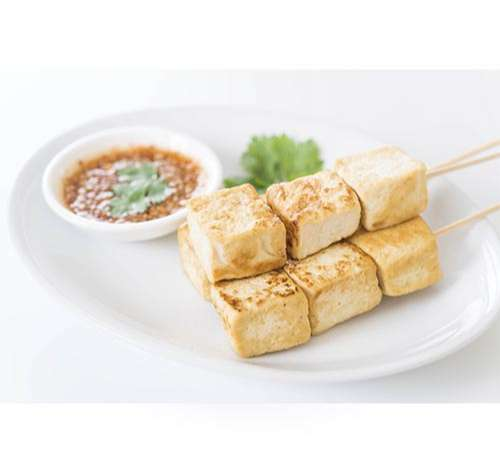 Tofu prensado y cocinado