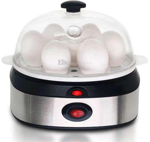 Elite Cuisine EGC-207 Escalfador de huevos