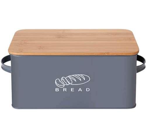 GA Homefavor Panera Contenedor de Cocina para el Pan con Tapa de bambú