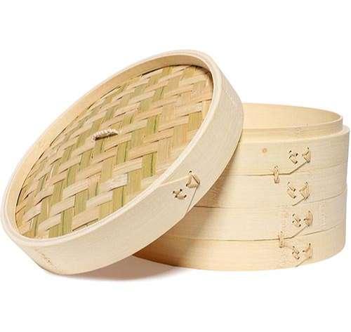Juvale - Juego de 3 cestas de bambú