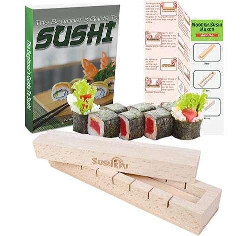 Kit de preparación de sushi, fácil para principiantes y más amantes del sushi