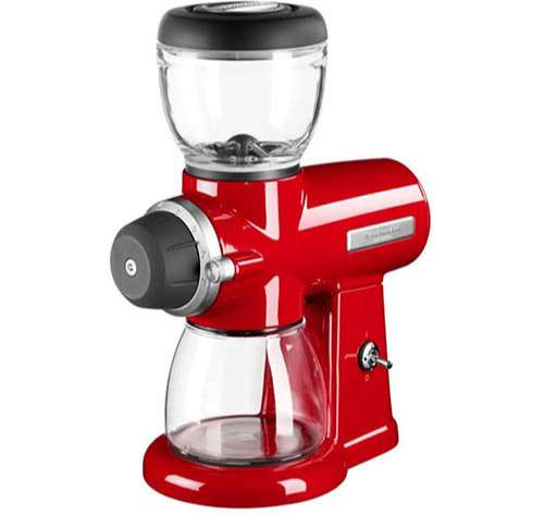 KitchenAid - Molinillo de café de color rojo