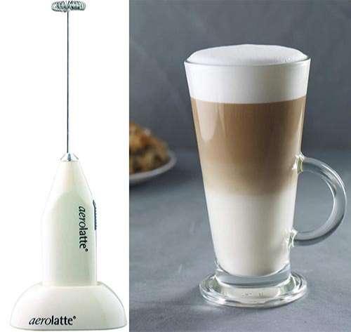 Aerolatte ALST4IV - Espumador de leche con soporte, color marfil