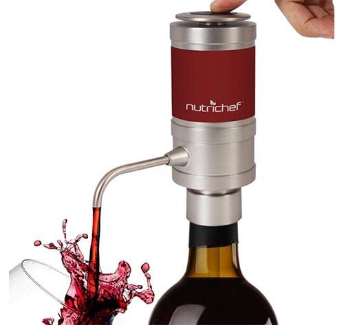 Dispensador de vino eléctrico y aireador
