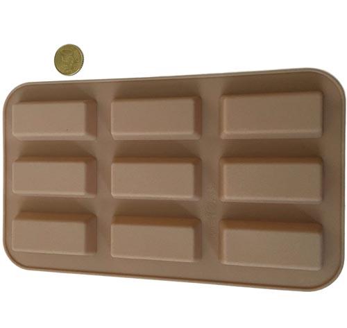 Moldes rectangulares de silicona para bombones o barritas